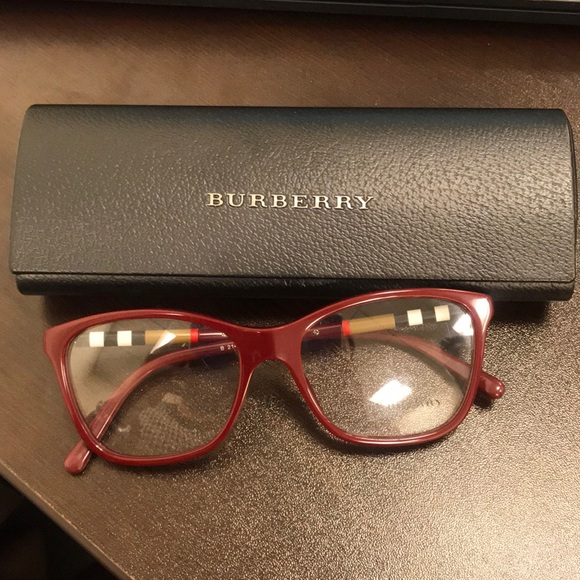 fef8f4a52b33 Burberry Accessories | Glasses Red Frame | Poshmark